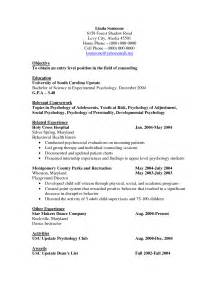 sle resume entry level hospital job psychology resume