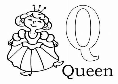 Coloring Queen Letter Pages Bee Alphabet Clipart