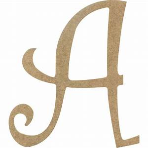 14quot decorative wooden curly letter a ab2145 With curly wooden letters