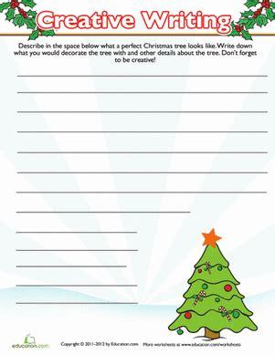 writing worksheets christmas christmas tree writing prompt worksheet education com