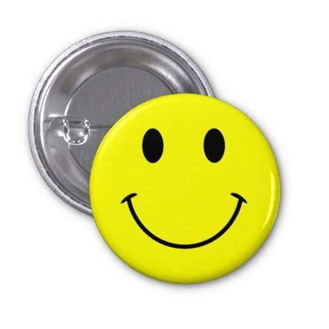 bright yellow cute face pinback button zazzlecom