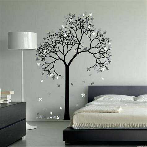 stickers chambre parentale aspen tree wall decal sticker vinyl nursert leaves and