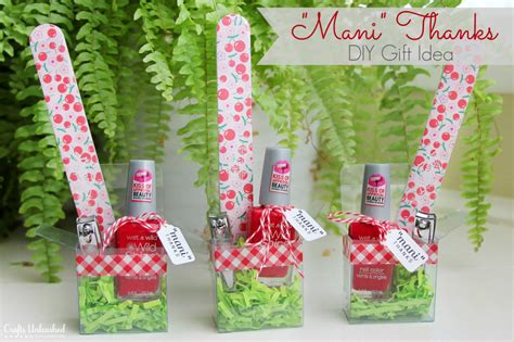 christmas craft ideas for teachers diy gift idea for quot thanks quot manicure set