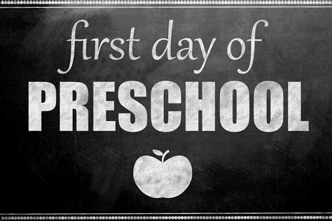day of school printable signs inspired 930 | first day of preschool