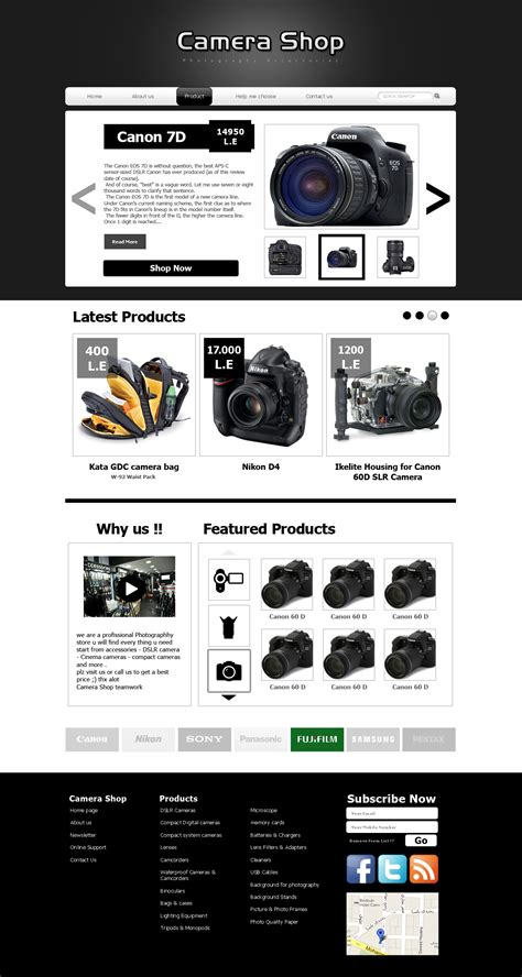 Camera Shop Website Design By Mar0logy On Deviantart