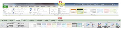 marketers guide  table formatting  excel search