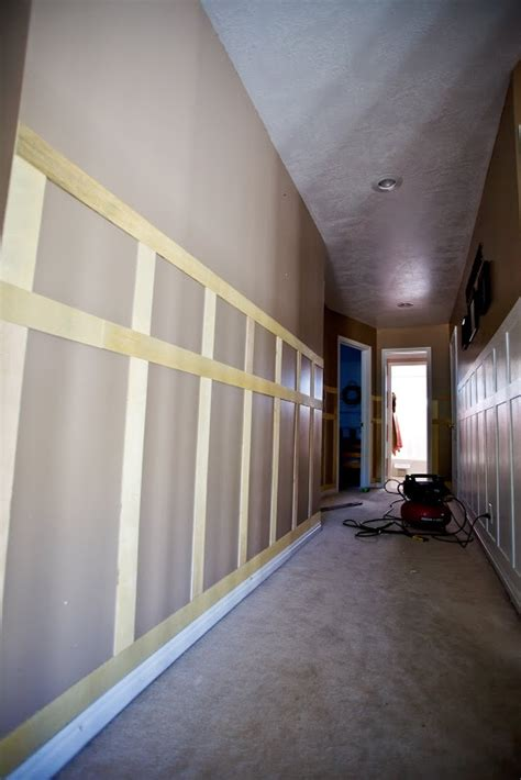 lets talk  ze hallway wall paneling diy home