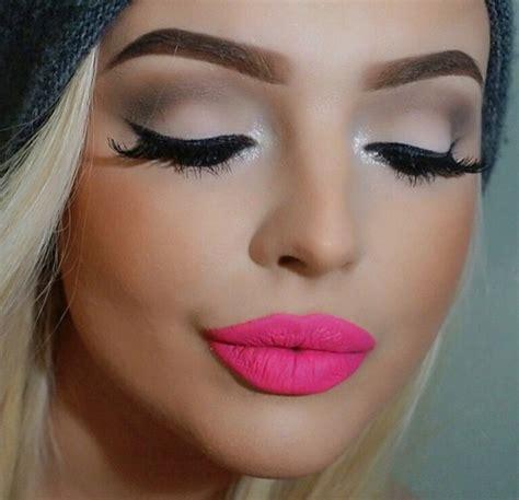 neon pink lip  summer pink lipstick makeup pink lipstick lipstick makeup