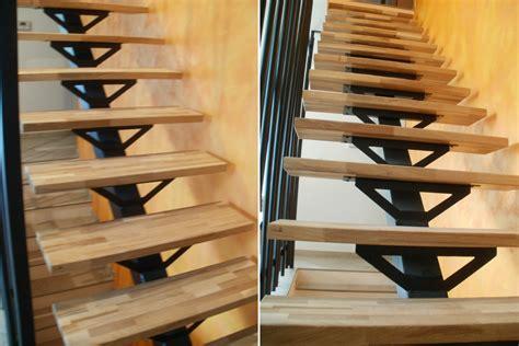 fabrication d un escalier 224 limon central en acier avec marches bois