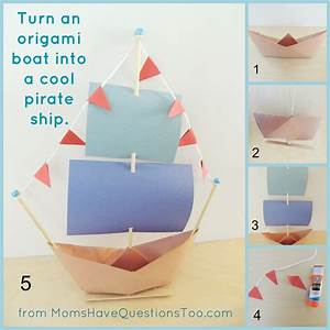 Origami Boat and Pirate Ship Craft