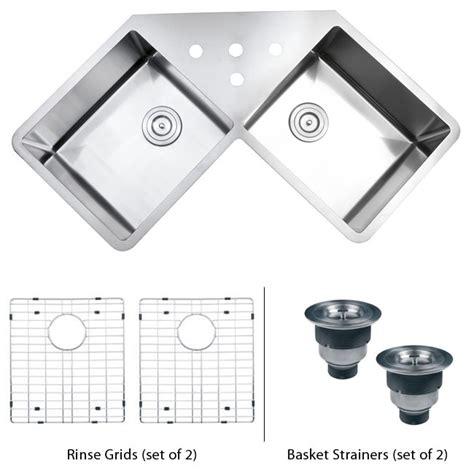 43 inch kitchen sink 43 inch stainless steel undermount butterly corner 3914