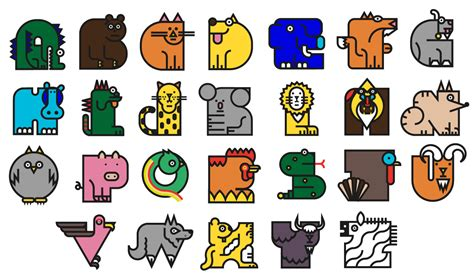 animal letters of the alphabet for the development and animal alphabet on behance 49719