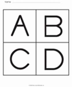 alphabet With capital letter flashcards