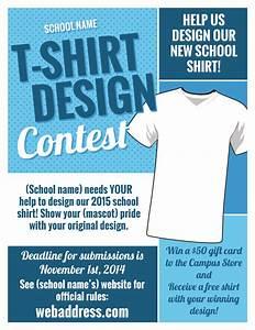t shirt design contest maketing flyers inksoft inksoft With t shirt design contest template