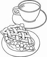 Coloring Tea Pages Cup Pie Cherry Coffee Mug Teapot Printable Milk Boston Getcolorings Getdrawings Sheets Ship Drawing Apple Colorings sketch template