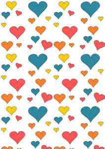Paper Heart Pattern Printable