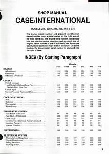 Case Ih Tractors Models 235 235h 245 255 265 275 Pdf