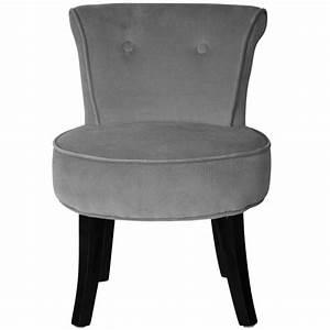Petit Fauteuil Confortable : petit fauteuil crapaud louis velours gris achat vente fauteuil gris cdiscount ~ Teatrodelosmanantiales.com Idées de Décoration