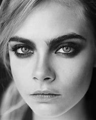 Cara Delevingne Black and White Portrait