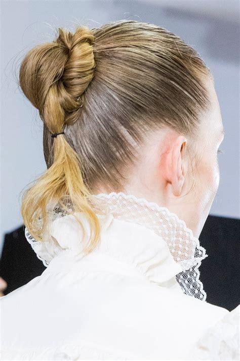 gedrehter zopf dutt schulterlange haare die schoensten