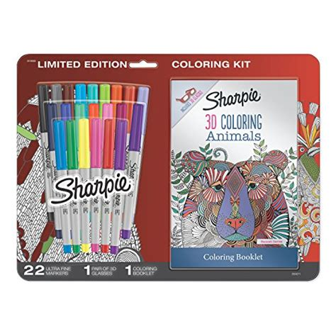 sharpie ct permanent markers   animals adult