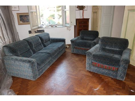 3 Seater Sofa + 2 Armchairs Design Years 70 1970 Mobile
