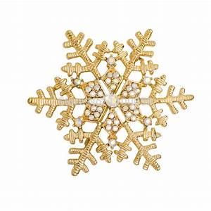 Aliexpress.com : Buy Jogos Vorazes Gold Snowflake Brooch ...