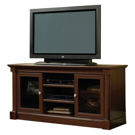 tv credenza black sauder palladia entertainment credenza cherry tv