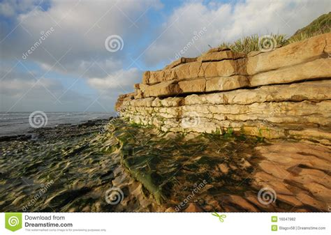 Rapahoe Beach Rock Formations Stock Photography - Image ...
