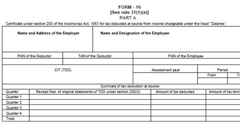 income tax section 16 income tax for individual in india understand form 16