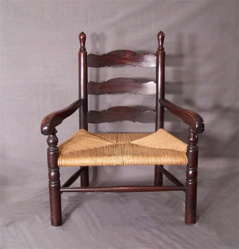 773 child s solid mahogany ladder back arm chair c1900 for
