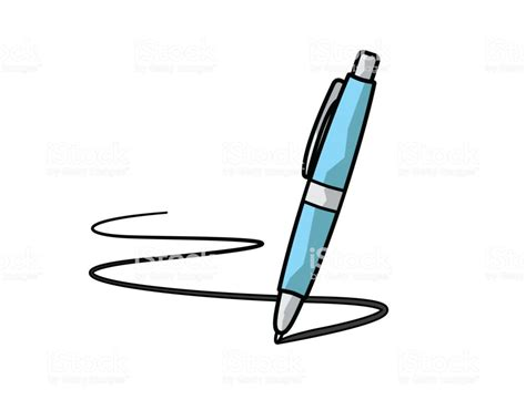 Pen Cartoon Illustration Cartoon Design Style Stock Vector