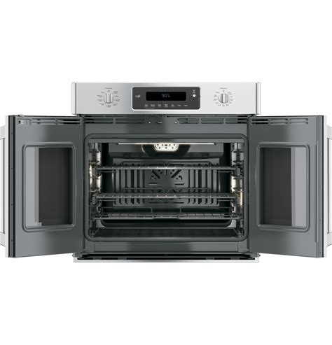 ge cafe series  built  french door single convection wall oven ctshss  appliances