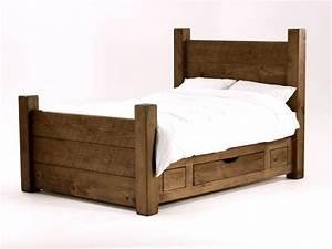 Design Bett Holz : 10 rustikale bett designs den landhausstil nach hause einladen ~ Orissabook.com Haus und Dekorationen
