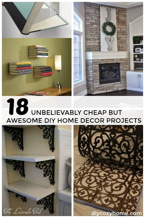 unbelievably cheap  awesome diy home decor projects