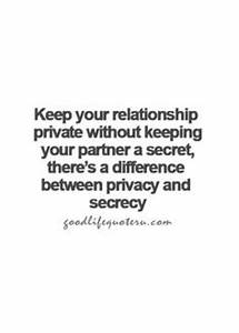 Keep ur relatio... Keep Privacy Quotes