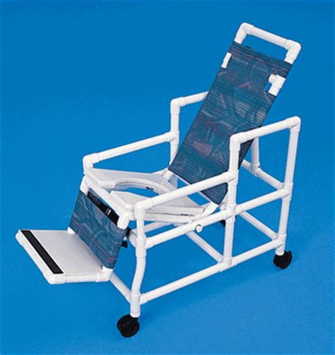 healthline pvc tilt shower chair commode rec1000