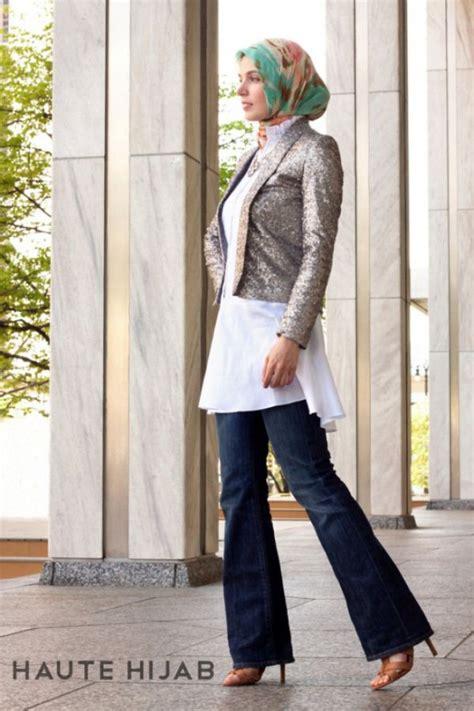 kombinasi hijab blazer   kantor dreamcoid