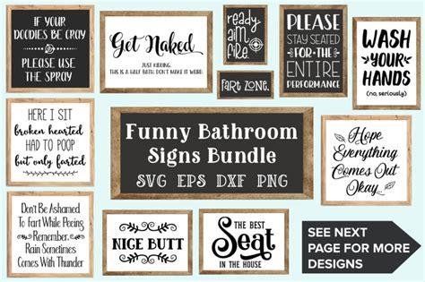 bathroom signs bundle svg eps dxf png  craft pixel