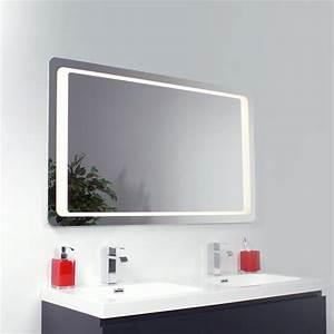 miroir salle de bains eclairant 4 cotes led braga With miroir eclairant led