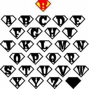 the lady wolf are you a superhero letter shields svg With superman alphabet template
