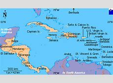 Clickable map of Central America and the Caribbean