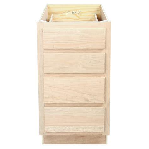 unfinished kitchen base cabinets kitchen drawer base cabinet unfinished oak 18