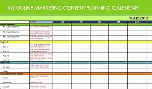 Marketing calendar excel calendar template excel for Campaign schedule template