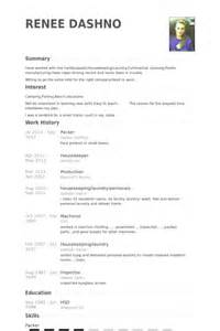 sle resume for picker packer emballeur exemple de cv base de donn 233 es des cv de visualcv