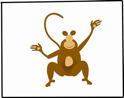 Monkey Clker Clip Clipart Domain Vector Cliparts