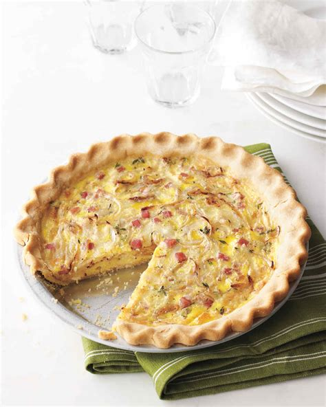 cuisine quiche ham and swiss quiche