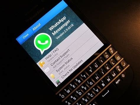 whats app on blackberry q10 walk through