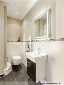 Wandfarbe Für Badezimmer : klare linien im g ste bad mit dusche wc und handwaschbecken sind modern abget nte wandfarben ~ Sanjose-hotels-ca.com Haus und Dekorationen