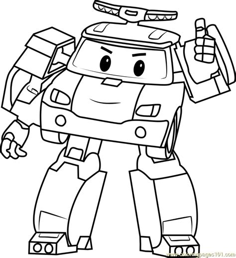 robocar poli printable coloring pages kerra